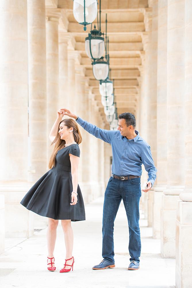 couple dancing Palais Royal paris