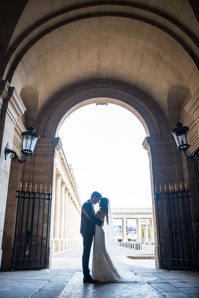 Palais Royal garden wedding shoot