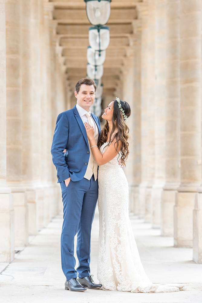 Palais Royal couple bridal session
