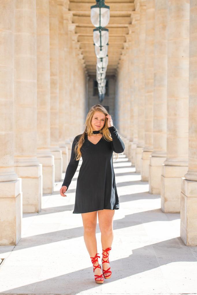 Sweet sixteen photo session at columns from palais Royal