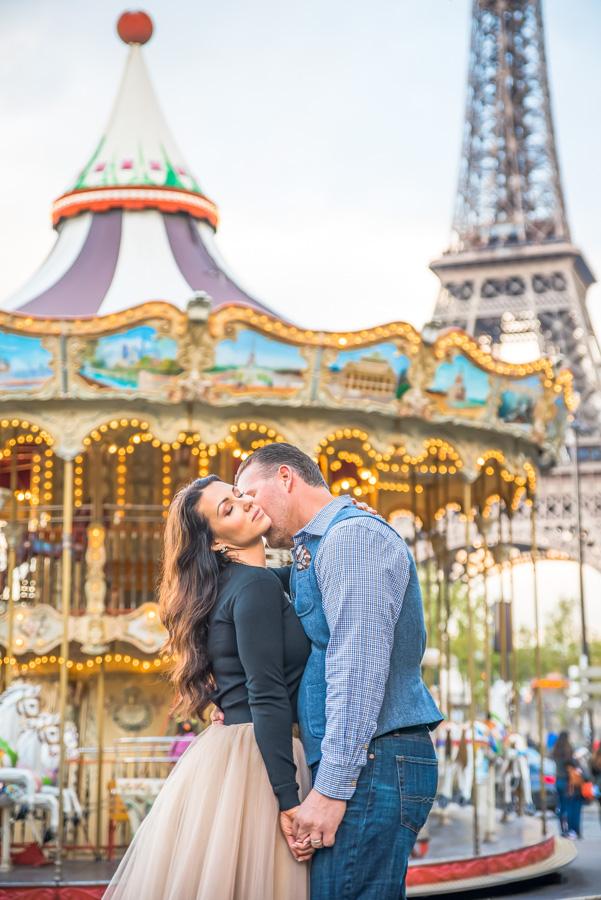 Eiffel Tower merry go round at trocadero