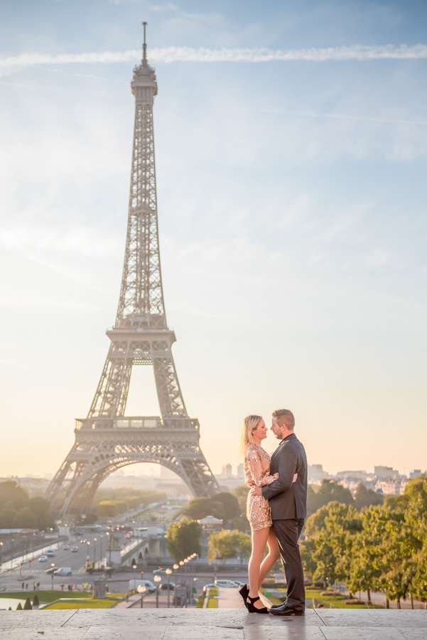 trocadero morning shoot at Eiffel tower