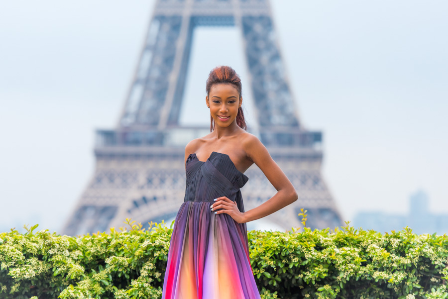 fashion shoot at trocadero / Eiffel tower