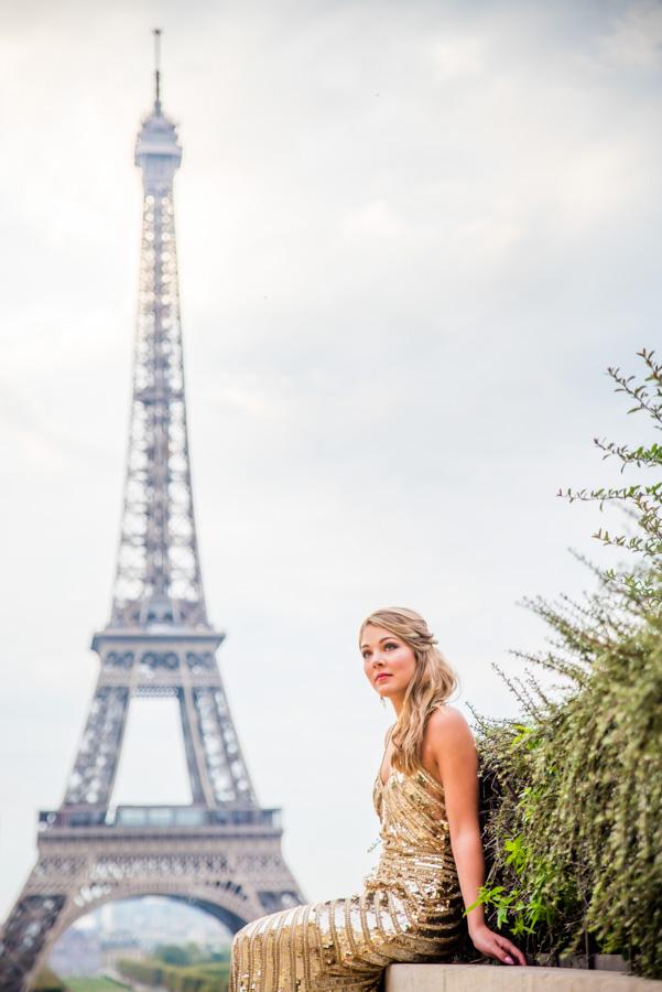 sweet 16 photoshoot at Eiffel Tower (Trocadero)
