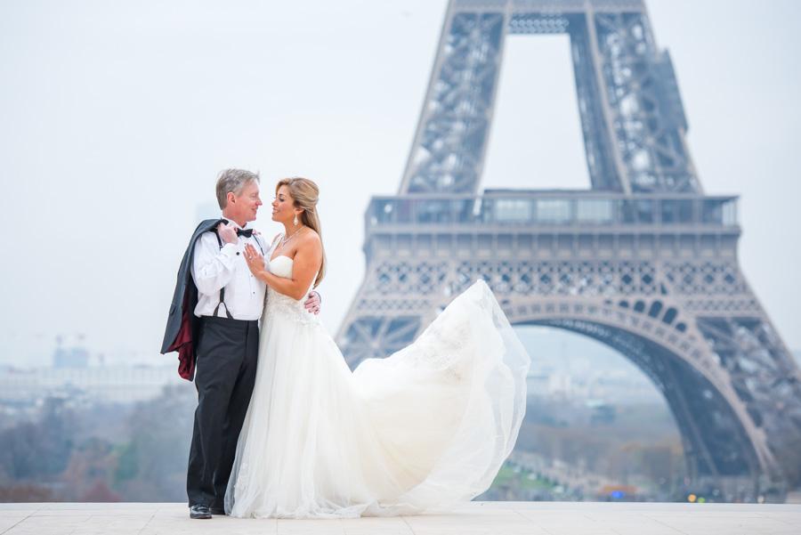 bridal shoot at trocadero / Eiffel Tower