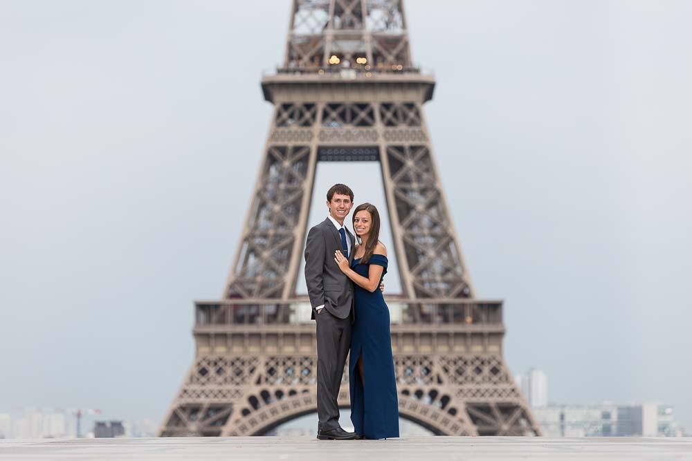 Anniversary photoshoot at Eiffel Tower