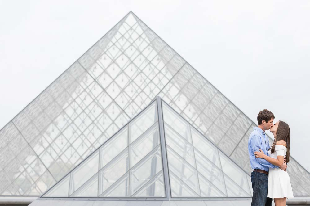 Anniversary photo with Louvre pyramid