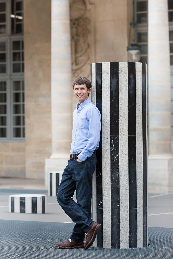 Anniversary solo photo at Palais Royal