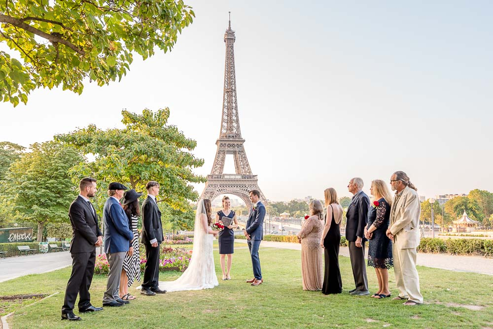 Elopement at Eiffel Tower gardens