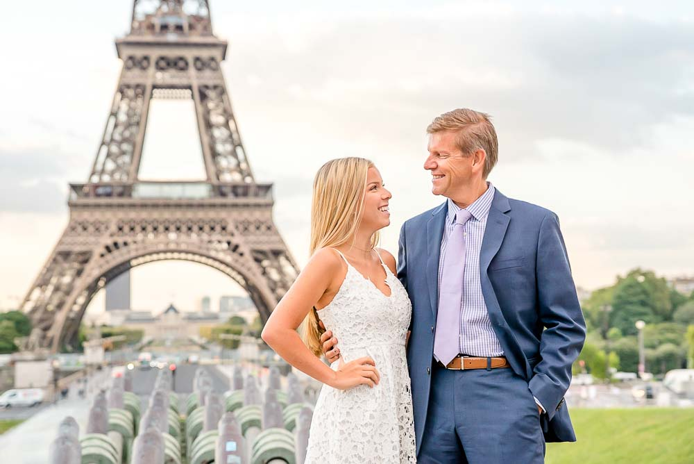 Sweet parents picture at the Eiffel Tower