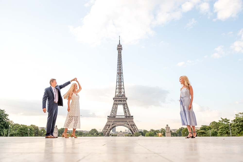 Sweet family at the Eiffel Tower