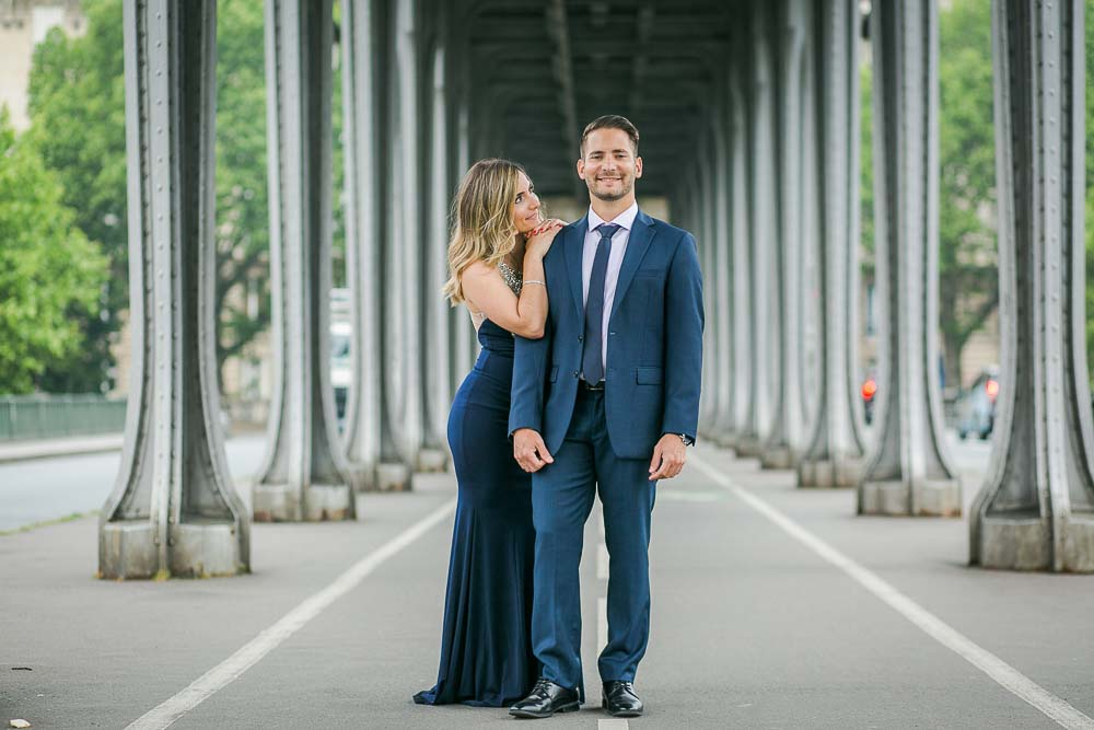 Romantic Engagement photography session at Eiffel Tower
