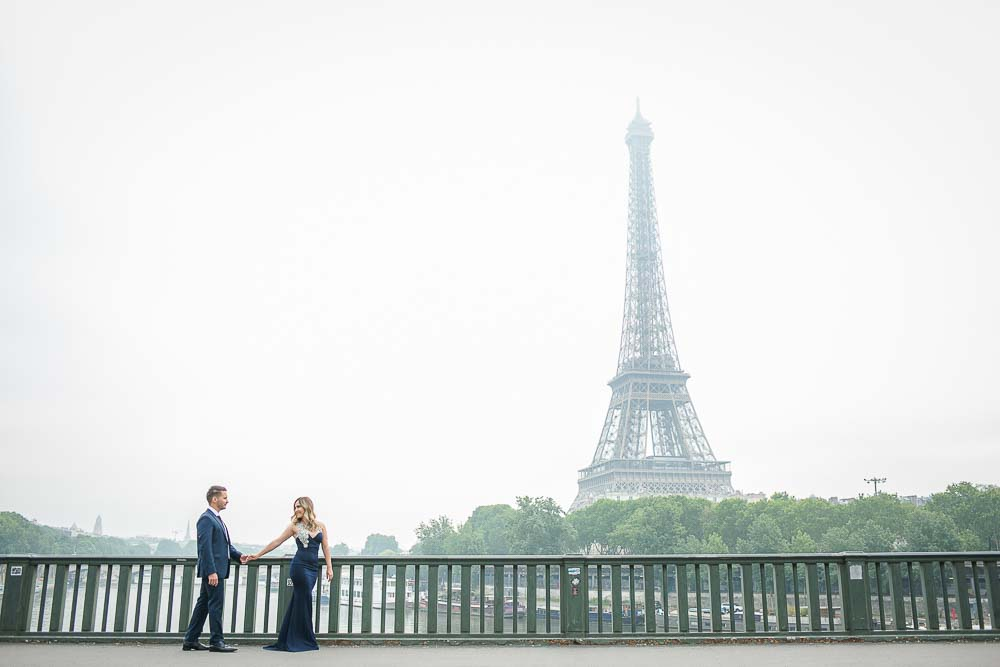 Romantic Engagement photography at Eiffel Tower