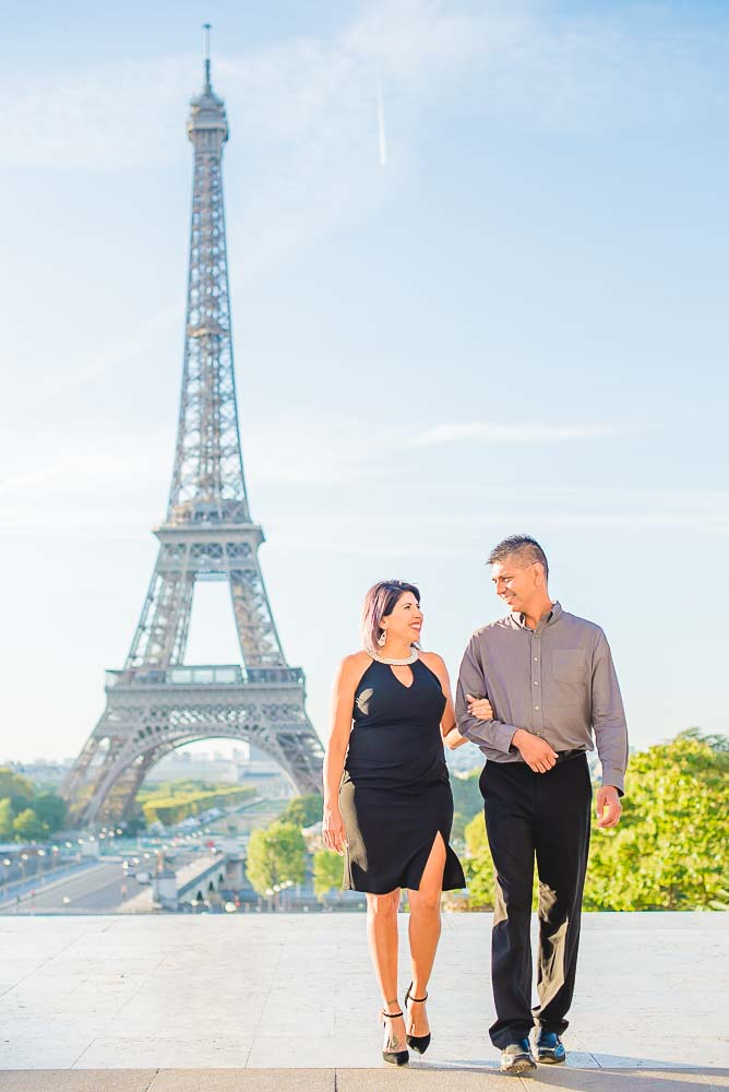 quinceanera- parents at Eiffel Tower