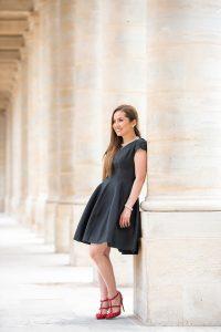 fashion portrait Palais Royal paris