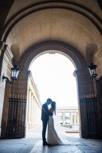 Palais Royal garden wedding shoot