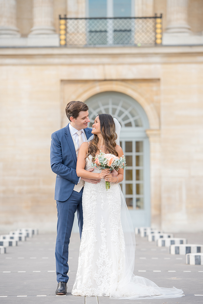 Palais Royal: wedding shoot with Michelle & Thomas