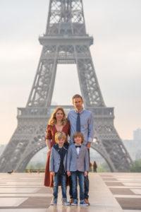 Family photoshoot at Trocadero