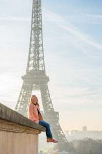 Sweet 16 portrait at Eiffel Tower