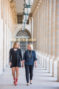 Sweet sixteen photo with mother in Paris