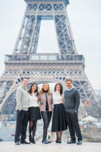 family portraits at Eiffel Tower