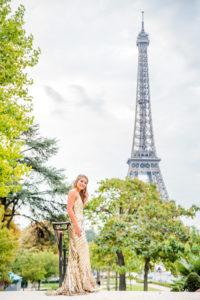 Senior photoshoot at Eiffel Tower (Trocadero)