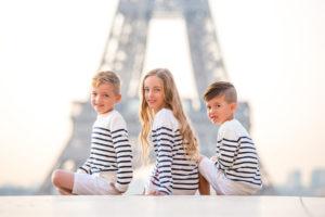 children portraits at Trocadero (Eiffel Tower)