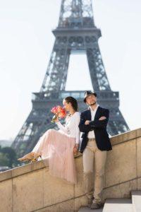 dancer couple photos at Eiffel Tower