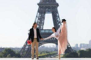 dancer photoshoot at Eiffel Tower