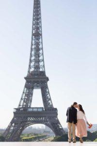 dancer couple photo session in Paris