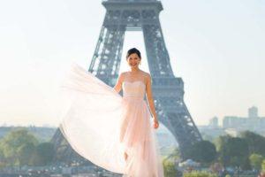 Bridal portrait during family session in paris