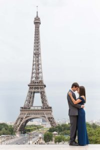 Anniversary photos at Eiffel Tower