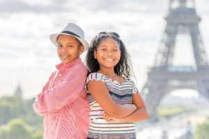 Children photos at the Eiffel Tower