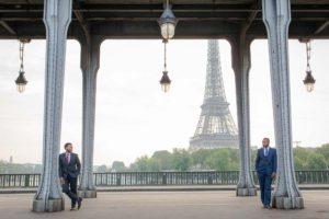 Eiffel Tower same sex photoshoot