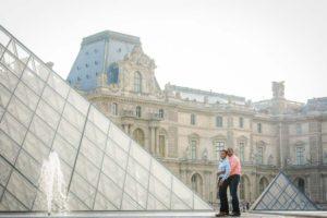 Louvre Paris same sex photo session