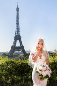 Bride photo session in Paris