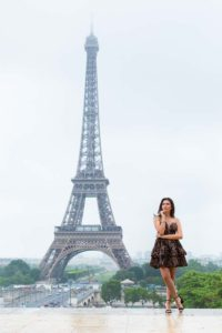 quinceanera photo at the Eiffel Tower