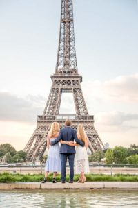Sweet family picture at the Eiffel Tower