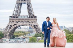 cute engagement at Eiffel tower