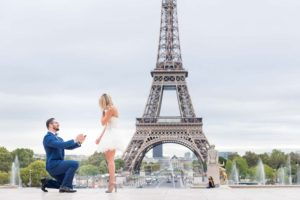 Surprise engagement at Eiffel Tower