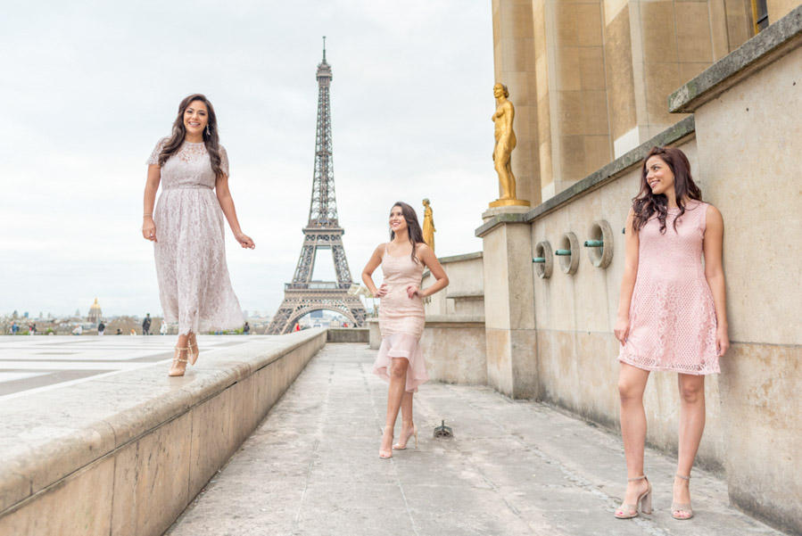 eiffel tower fashion photoshoot
